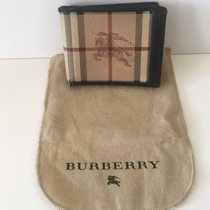 Authentic men's Burberry wallet